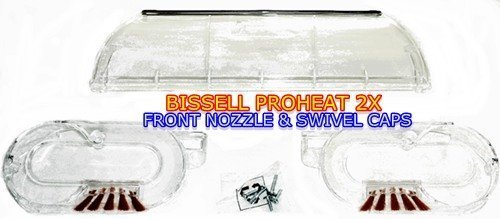 Bissell 2037649 Carpet Cleaner Base Nozzle and End Cap Assembly Genuine Original Equipment Manufacturer (OEM) part (Bissell Proheat Cleaner Carpet)