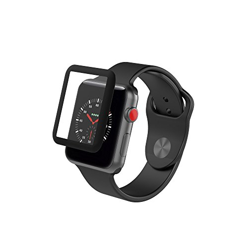 - ZAGG InvisibleShield Glass Luxe HD Clarity + Reinforced, Tempered Glass Screen Protector for Apple Watch (42mm) Series 3 - Black