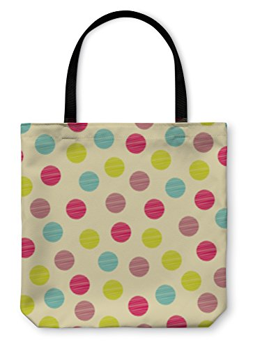 - Gear New Shoulder Tote Hand Bag, Pattern Polka Dot Fabric, 16x16, 1689559GN