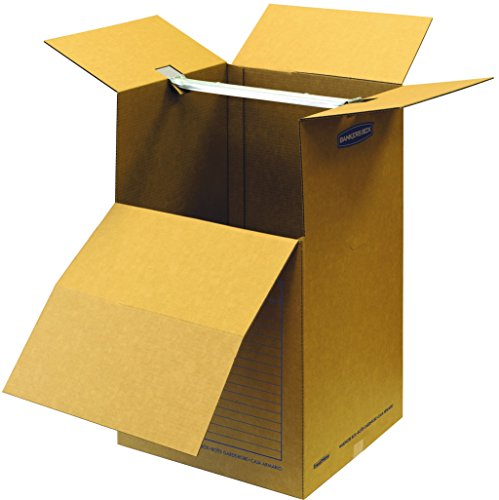 Bankers Box SmoothMove Wardrobe Moving Boxes, Short, 20 x 20 x 34 Inches, 1 Pack (7710901) -
