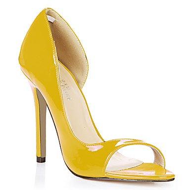 LvYuan Mujer-Tacón Stiletto-Confort-Sandalias-Oficina y Trabajo Vestido Informal-PU-Negro Azul Amarillo Rosa Morado Rojo Blanco Naranja Piel Orange
