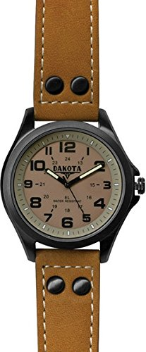 Dakota Watch Company Stealth EL Watch, Khaki/Brown