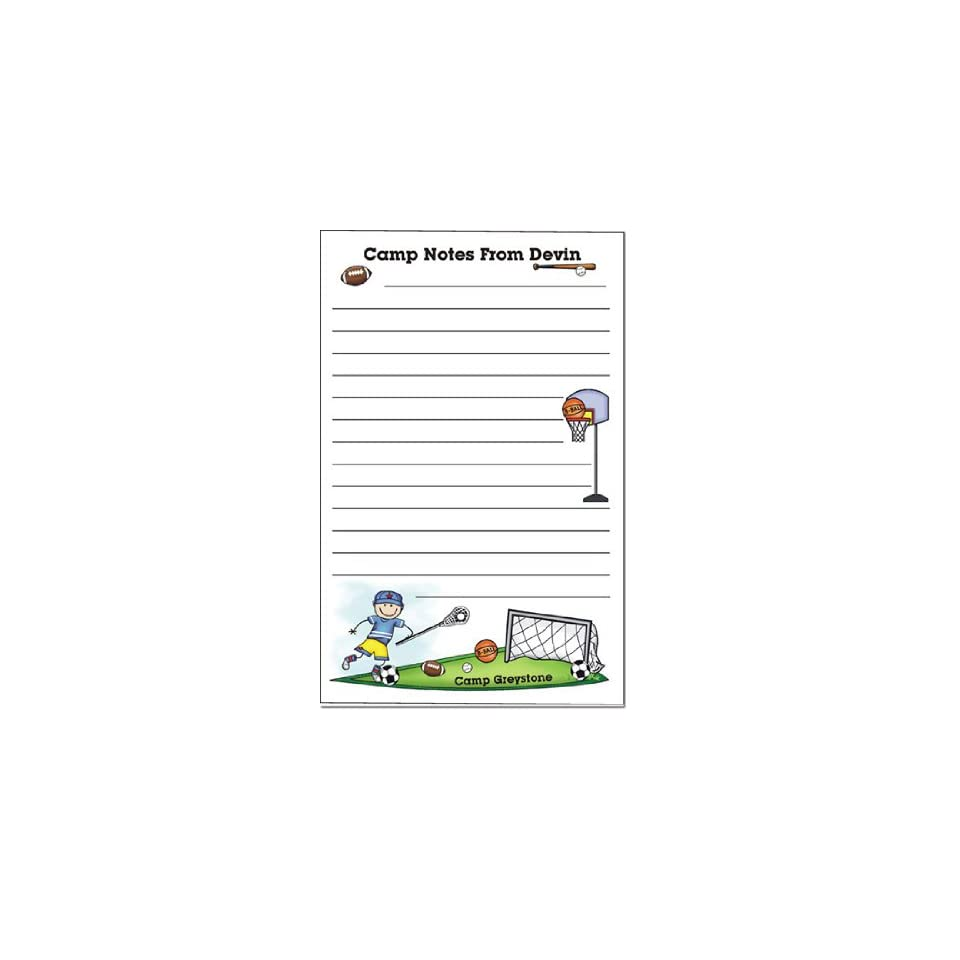 Pen At Hand Stick Figures   Camp Note Pads (Sport   Boy   Full Color)