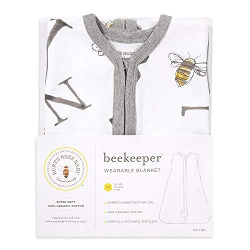 Burt's Bees Baby Baby Transition Sleeping Bag, A Bee C Cloud, Medium