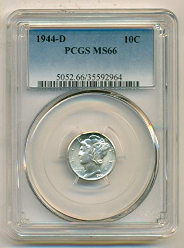 1944 D Mercury Dime MS66 PCGS