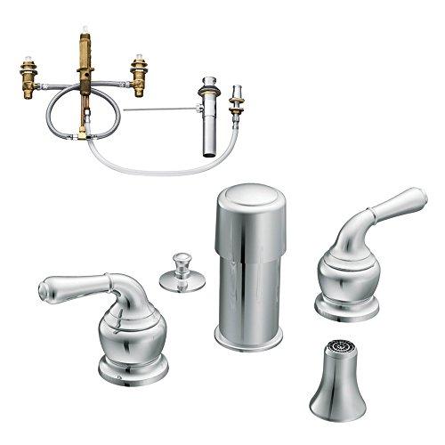 Moen KBMO-D-T5270CR Monticello Two-Handle Bidet Faucet, Chrome