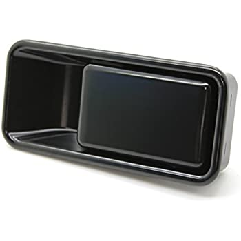 Tailgate Rear Exterior Outside Door Handle Black Metal