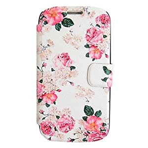 GHK - Pink Rose Leather Case with Stand for Samsung Galaxy S3 I9300
