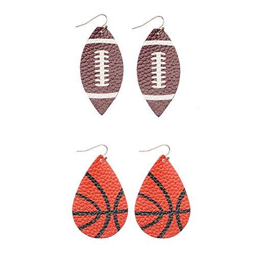 lureme Faux Leather Earrings Set for Women Lightweight Teardrop Handmade Leaf Earrings (er006191-8)