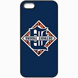 Personalized iPhone 5 5S Cell phone Case/Cover Skin Baseball Detroit Tigers 4 Sport Black