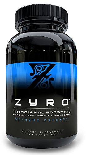 Zyro Thermogenic AB BOOSTER, CARB BLOCKER, Appetite Suppressant for Cut, Ripped Abs and Fast Targeted Weight Loss, 60 capsules