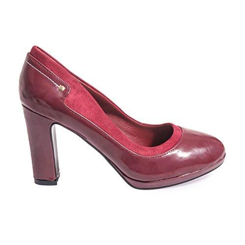 La Modeuse-Sandalias de piel sintética e imitación de piel, diseño de pintauñas Rojo - rojo
