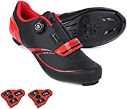 Cycling Shoes Compatible Indoor Peloton Bike Shoe with Delta Cleat Outdoor Clip in Road Bike Shoes for Men Wom