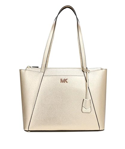 MICHAEL Michael Kors Women's Metallic Maddie Medium Tote Bag Gold One Size