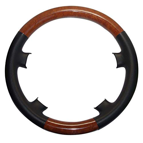 Used, Pursuestar Black Leather Light Brown Wood Steering for sale  Delivered anywhere in USA