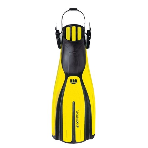 Mares Avanti X3 Scuba Diving Fins (Small, Yellow) by Mares (Image #1)