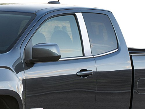 QAA FITS Colorado 2015-2019 Chevrolet (2 Pc: Stainless Steel Pillar Post Trim Kit, 2-Door, Extended Cab) PP55150