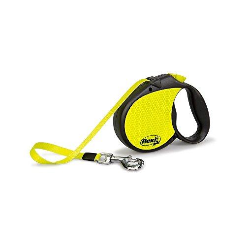 Flexi Neon Retractable Dog Leash (Tape), 16 ft, Large, Black/Neon