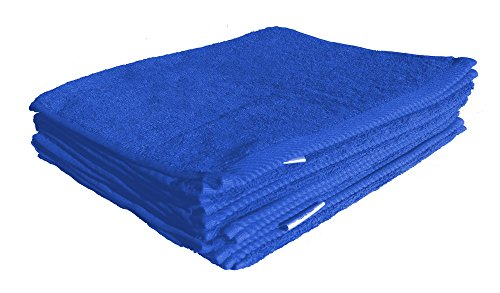 robesale Terry Absorbent Golf Towel, Royal Blue, Set of (Executive Royal Cotton)