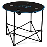Carolina Panters Collapsible Round Table With 4 Cup Holders And Carry Bag