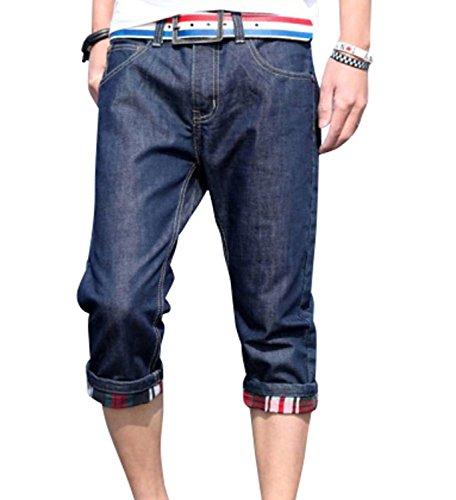 Orange Ananas(オレンジアナナス) メンズ カジュアル ストリート ファッション デニム ジーパン 7 分 丈 ハーフ パンツ S ~XL 大きい サイズ も T-075