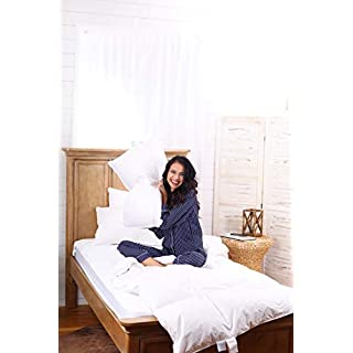 Continental Bedding 100% Premium White Goose Down Luxury Pillow, 550 Fill Power. (King)