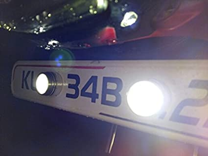 """con vite luci LED di marcia diurna Luci LED /""""Eagle Eye/"""" ad alta potenza da 3/W per auto e moto adatte come luci di retromarcia luci di posizione"""