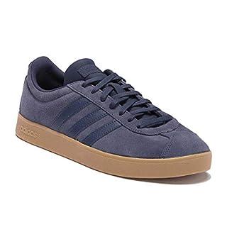 adidas Performance Men's VL Court 2.0 Sneaker,  Trace Blue/Trace Blue/Gum,  9 M US