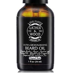 Ultra-Moisturizer Beard Oil For Men - Premium Blend - Spill-proof Pump - Original Scent is a Crisp Forest Ambience of Eucalyptus, Mint, and Lavender - Organic Hazelnut, Jojoba, Argan, Grapeseed Oils