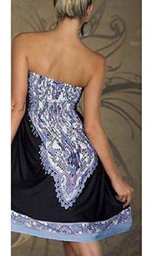 Cut Party Women Shoulder Floral Black Back Coolred Dress Off Style Out Ethnic A1qzw