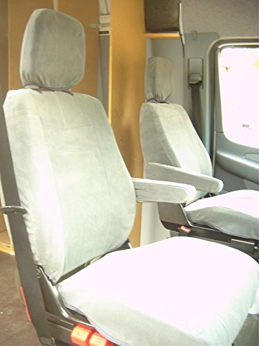 Durafit Seat Covers Gray Twill 2002-2006 Dodge Sprinter Commercial Van Exact Fit Seat Covers ()