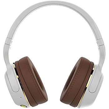 Skullcandy S6HBJY-534 Hesh 2 Bluetooth Wireless Headphones with Mic, White/Gold