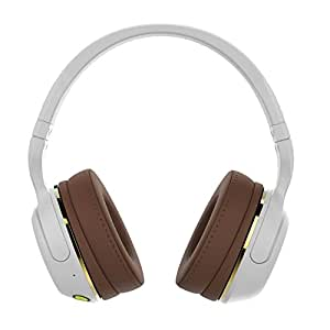 Skullcandy S6HBJY-534 Hesh 2 Bluetooth Wireless Headphones with Mic, White/Gold