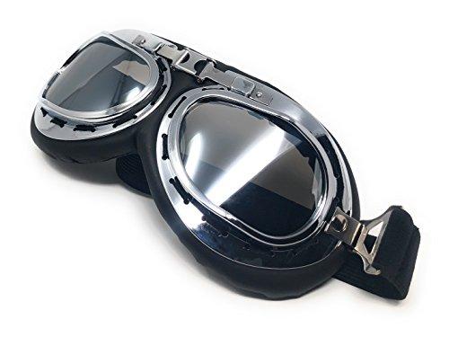de Con Punk Cosplay victoriano estilo de Marco Vintage gafas Lentes estilo y Cyber Rustic Plata Glasses Espejo Steampunk Plata Style un de en Pilot Flying Premium Ultra motocicleta Copper gótico BqOa7Px