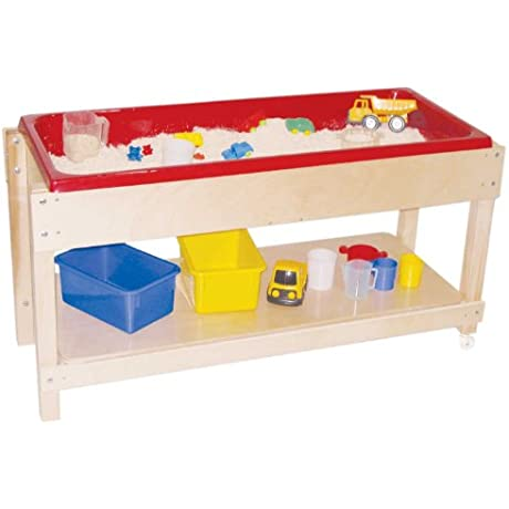 Wood Designs WD11810 Sand And Water Table With Top Shelf