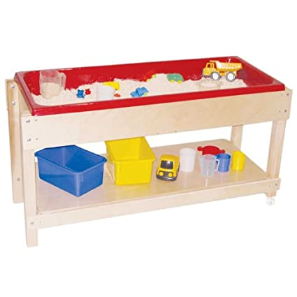 24 Height 46 Width 17 Length Wood Designs 11800 Sand and Water Table with Lid