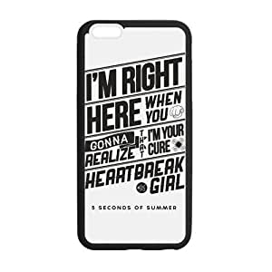 Fashion 5SOS Protective Rubber Gel Coated Case Cover for iphone 4 4s