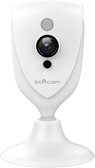 Mini Camera WiFi - Ebitcam 1080P Indoor WiFi Monitor with Night Vision, 2-Way Audio,Motion Alarm for Home Surveillance/Baby/Pet,Watch Live Streaming Video Anywhere,One Year Cloud Storage