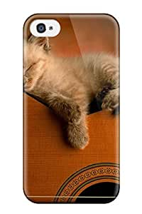 [hPoDNFe2752ssIlQ] - New Kitten On Guitar Protective Iphone 4/4s Classic Hardshell Case
