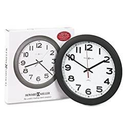 Norcross Auto Daylight-Savings Wall Clock, 12-1/4, Black, 1 AA, Sold as 1 Each