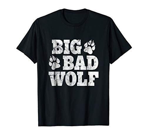 Big Bad Wolf Shirt Halloween Costume Outfit Girls Boys Gift