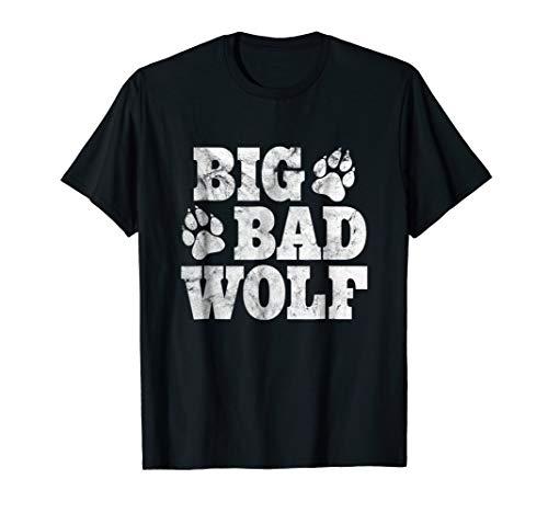 Big Bad Wolf Shirt Halloween Costume Outfit Girls Boys Gift -
