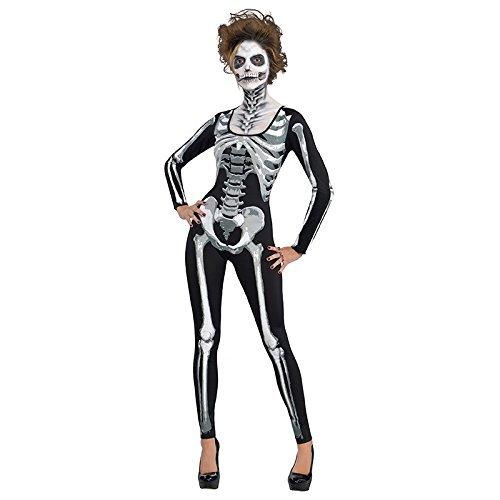 AMSCAN Black & Bone Catsuit- Skeleton for Women, One -