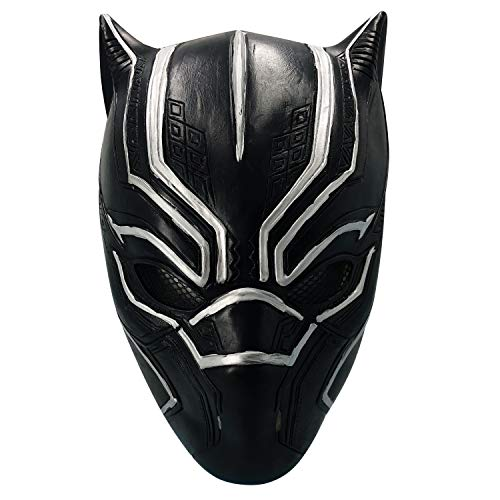 HUALIAN Black Panther mask Face Helmet Decoration Theme Party Props Halloween Costume Accessory Adult Mask Latex mask