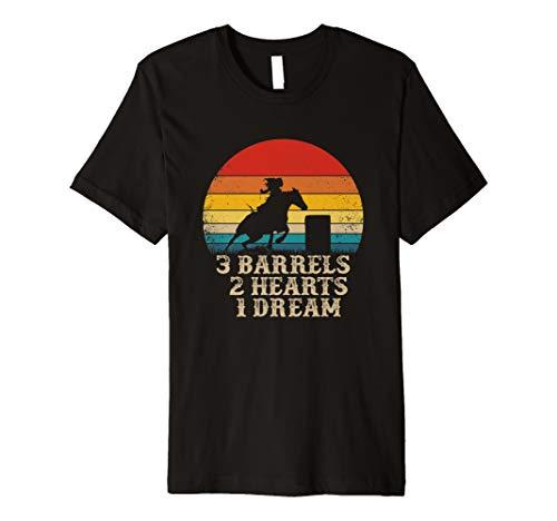 (Barrel Racing Horse Riding - 3 Barrels 2 Hearts 1 Dream Premium)