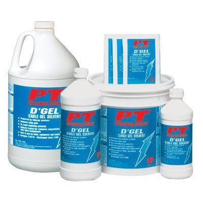 D'Gel® Cable Gel Solvents - d'gel cable cleaner 32 oz.bottle [Set of 12] by PT Technologies
