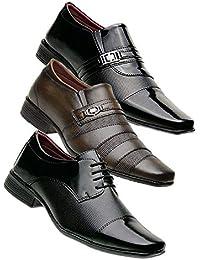 Kit 3 Pares Sapato Social masculino