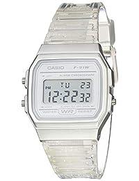 Casio Reloj De Cuarzo Con Correa De Resina, Transparente, 20 (Modelo: F-91Ws-7Cf)