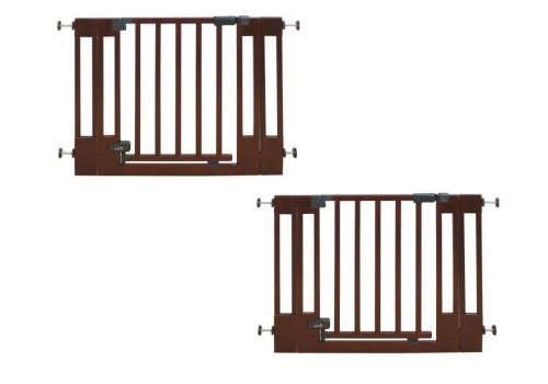 Summer Infant Sure and Secure Deluxe Top of Stairs Wood Walk Thru Gate, Set of 2