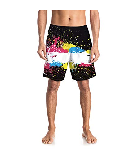 Men's Swim Trunks Beach Quick Dry Swimming Shorts (Blue/Large)